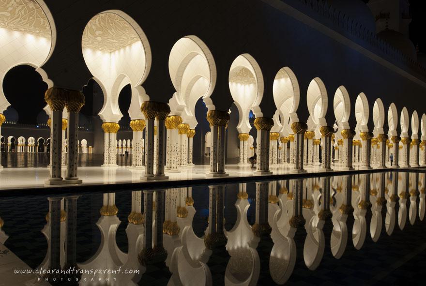 Sheikh Zayed Mosque nightfall